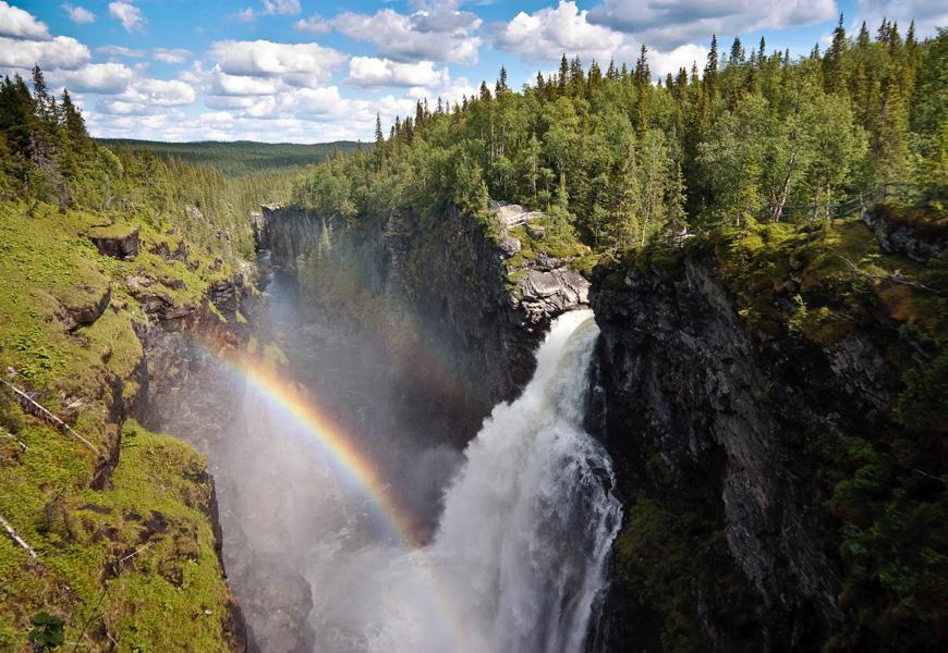 Perpetual rainbow –Hällingsåfallet, Sweden
